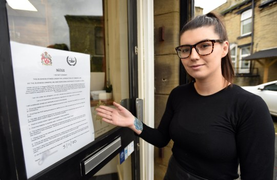 Sinead Quinn, owner of Quinn Blakey hairdressing salon, Oakenshaw, near Bradford, who has racked up ?27,000 in fines after defying government lockdown restrictions