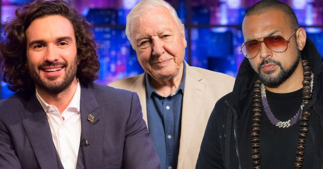 Sir David Attenborough, Sean Paul Joe Wicks