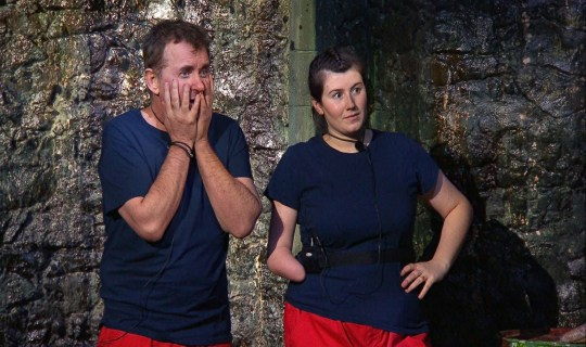STRICT EMBARGO - NO PUBLICATION BEFORE 22:00 GMT Thursday 26th November 2020. Editorial Use Only Mandatory Credit: Photo by ITV/REX (11068479k) Trial, Wicked Waterways - Shane Richie and Hollie Arnold 'I'm a Celebrity... Get Me Out of Here!' TV Show, Series 20, Show 12, Gwrych Castle, Wales, UK - 26 Nov 2020