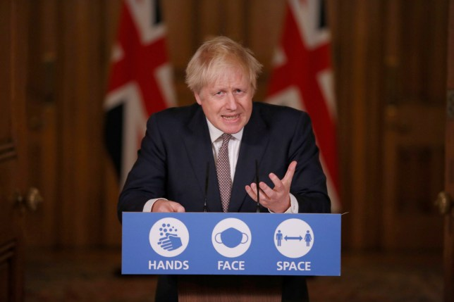 Prime Minister Boris Johnson during a media briefing on coronavirus (COVID-19) in Downing Street, London. PA Photo. Picture date: Thursday November 26, 2020. See PA story HEALTH Coronavirus. Photo credit should read: Jamie Lorriman/Daily Telegraph/PA Wire
