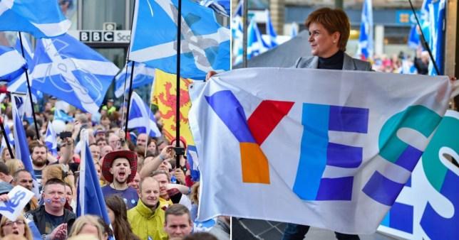 Nicola Sturgeon at a Scottish independence referendum rally