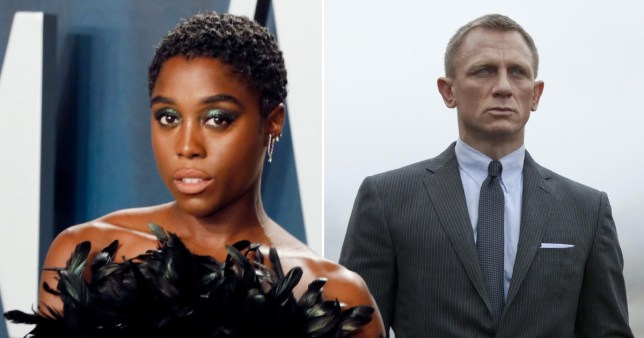 Lashana Lynch and James Bond star Daniel Craig