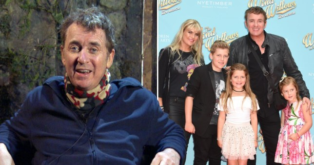 Shane Richie with his family