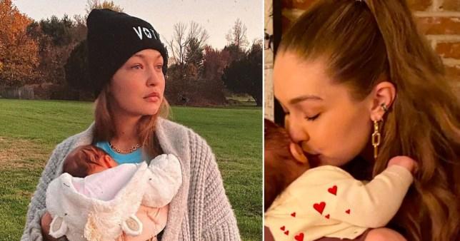 new pic of Gigi Hadid and daughter Gigi Hadid/Instagram