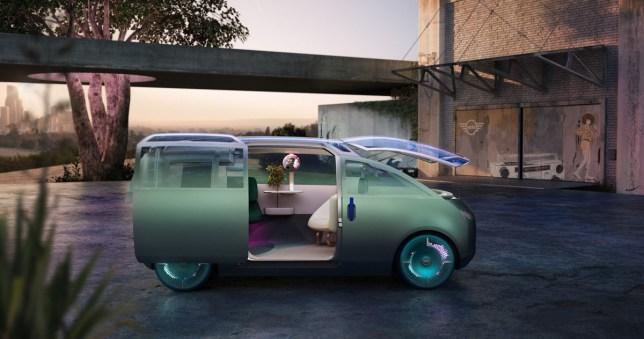 The Mini Vision Urbanaut is a new autonomous concept car that fits a lot into a small space (Mini)