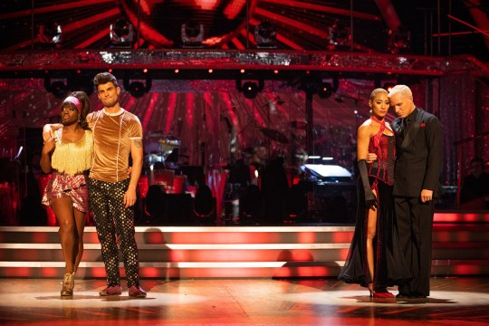 Clara Amfo was in the dance off against Jamie Laing