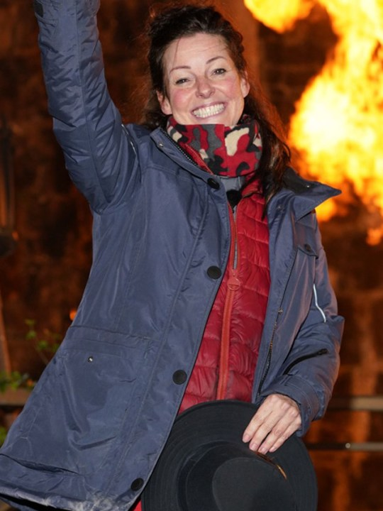 Ruthie Henshall leaving the I'm A Celebrity castle