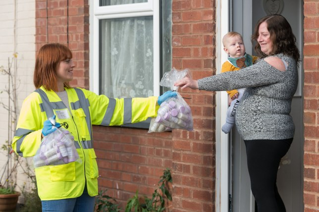 Leanne Forbes has become a breast milk milkperson, collecting and delivering gallons of breast milk from over-productive mums on behalf of Mid Devon Milk Bank after donating 190 litres of her own.