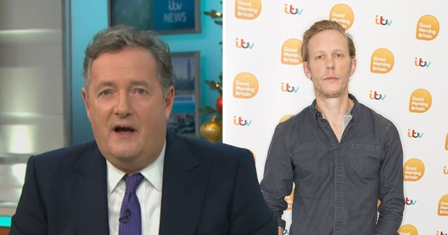 Piers Morgan tells Laurence Fox to 'shut up' for tweeting about breaching lockdown rules Rex Features|ITV