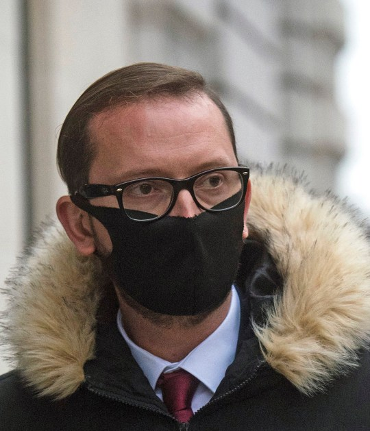 Adamo Canto, 37, leaving Westminster Magistrates' Court, London, where he was charged with several counts of theft, including medals, from Buckingham Palace, whilst working as a servant in the Queen's Household.