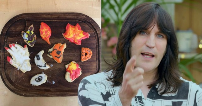 Noel Fielding and his daughter's Great British Bake Off attempt