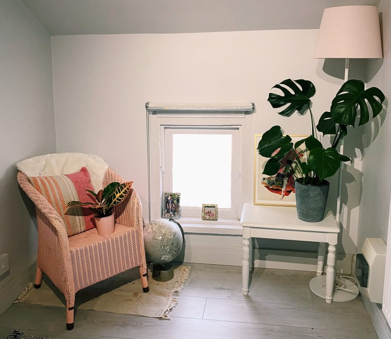 What I Rent: Rosie, Southsea - hallway chair and plants