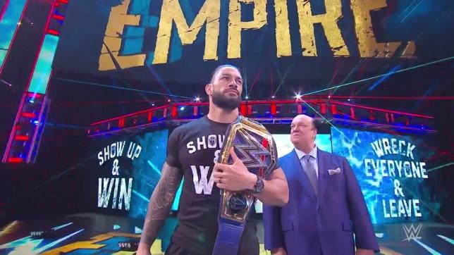 WWE superstar Roman Reigns and Paul Heyman on SmackDown