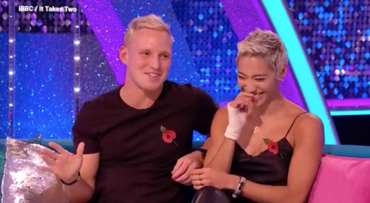 Jamie Laing and Karen Hauer on Strictly: It Takes Two
