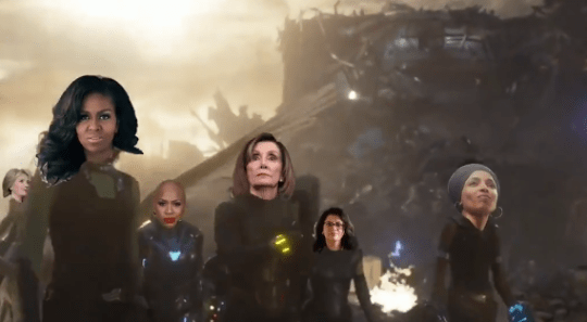 Michelle Obama in viral Avengers election parody
