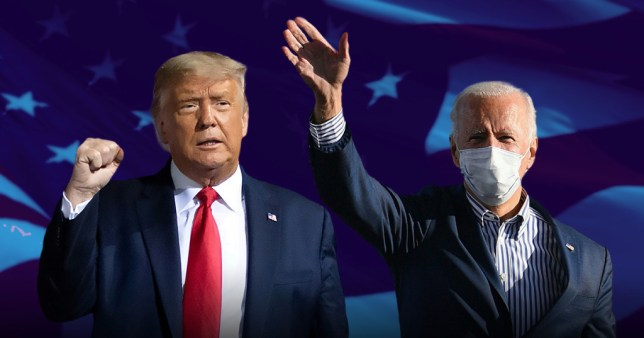 presidential hopefuls, donald trump and joe biden