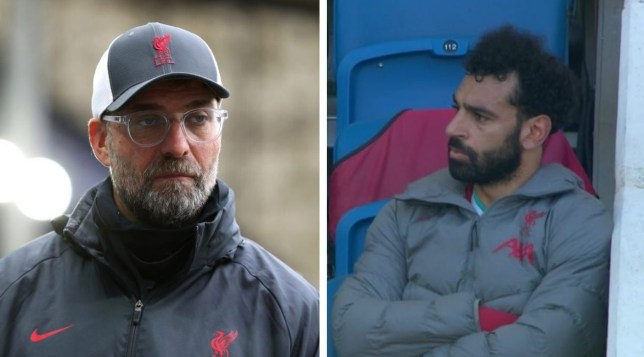 Mohamed Salah was visibly upset after being subbed off by Liverpool manager Jurgen Klopp