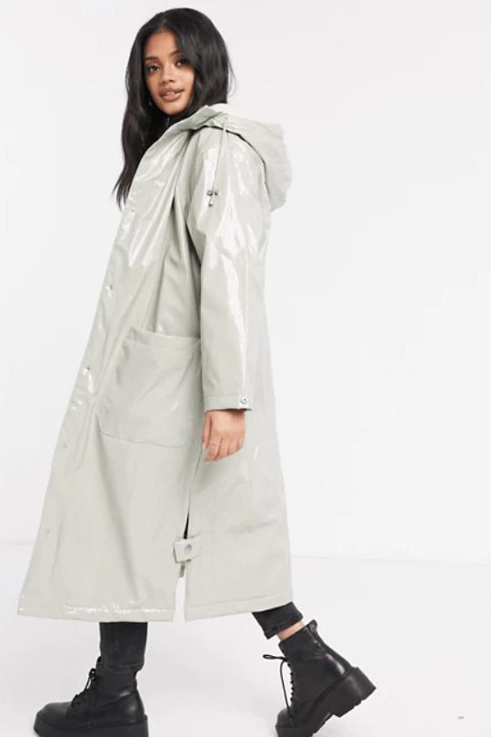 asos design waterproof coat
