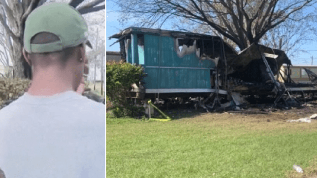 Kevin Jones and his late mother's ruined home