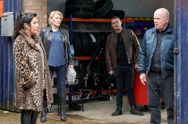 Kat, Phil, Shirley and Ben in EastEnders