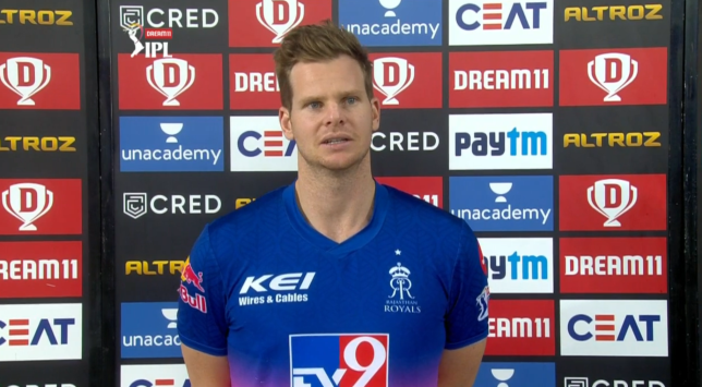 Rajasthan Royals Steve Smith discussing his team's elimination