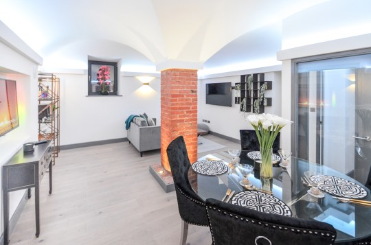 dining area in luxury apartment