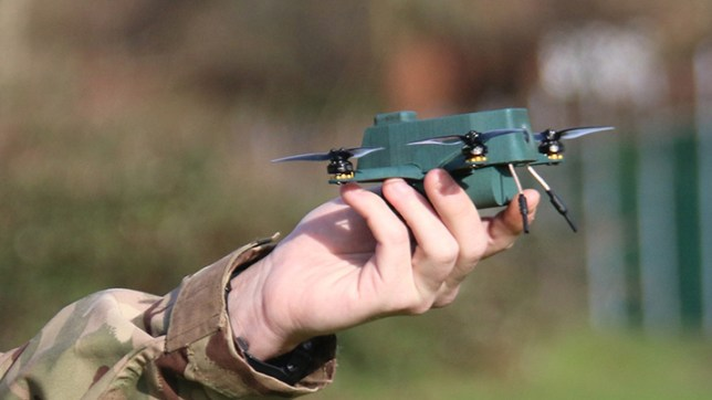 The 'Bug' drone can fly up to 2km on a single charge (BAE Systems)