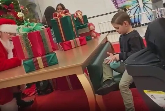 Boy is denied Nerf gun by Father Christmas