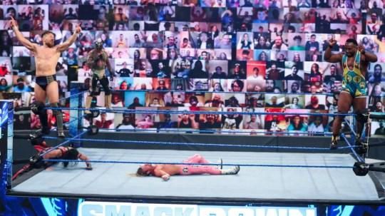 WWE superstars Daniel Bryan, Big E, Rey Mysterio and Dolph Ziggler on SmackDown