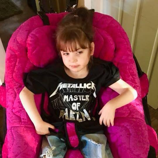 Freya McLachlan has not been at school for eight months due to Covid-19 guidance affecting SEND children (Picture: Carrie Leigh McLachlan)   Read more: https://metro.co.uk/2020/12/05/mum-fights-cancer-for-sake-of-disabled-children-whove-been-off-school-since-march-13703131/?ito=cbshare  Twitter: https://twitter.com/MetroUK | Facebook: https://www.facebook.com/MetroUK/