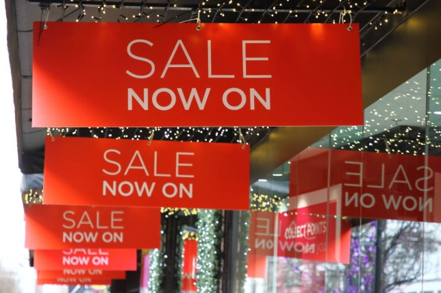 Sales signs up at department store