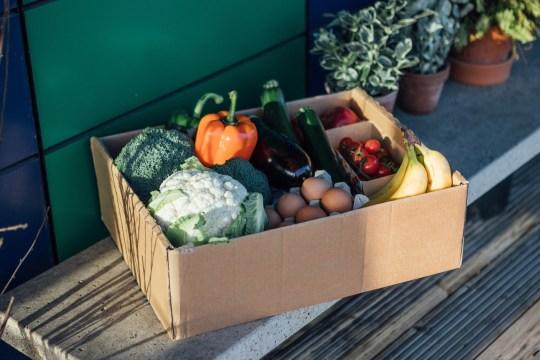 box of fresh vegetables