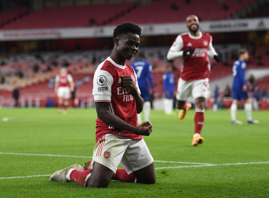 Bukayo Saka was named Arsenal's Player of the Month for December