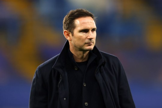 Frank Lampard looks on during Chelsea's Premier League clash with Aston Villa