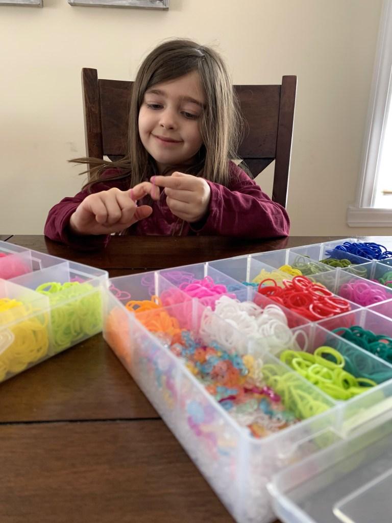 Hayley Orlinsky making bracelets