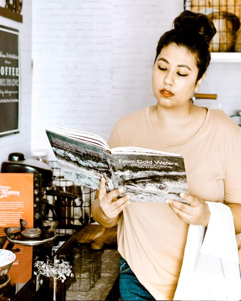 What I Rent: Rukmini, one-bedroom apartment in Mumbai - Rukmini standing in the kitchen