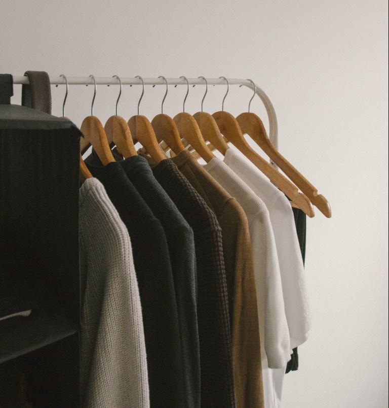 what I Rent: Dario, Belgrade, Serbia - clothing rail