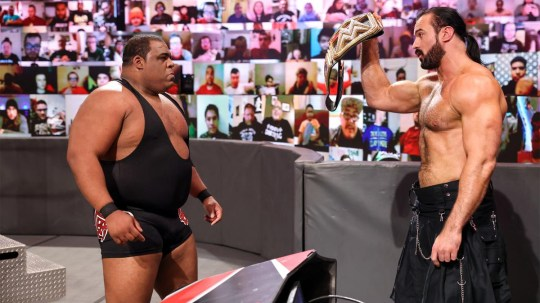 WWE superstar Keith Lee faces off with WWE Champion Drew McIntyre on Raw
