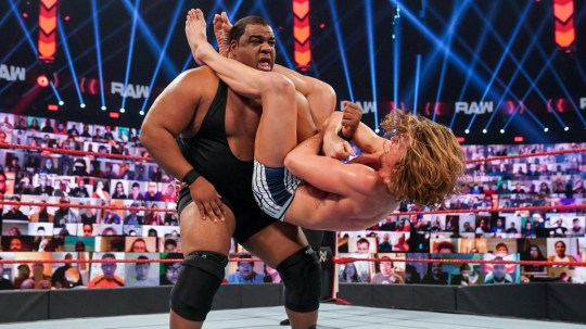 WWE superstars Keith Lee and Riddle face off on Raw
