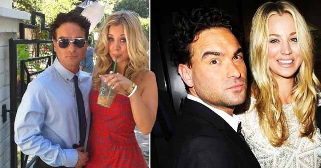 Kaley Cuoco and Johnny Galecki personal snaps