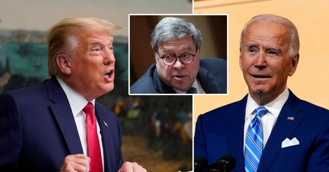 Donald Trump, Bill Barr and Joe Biden