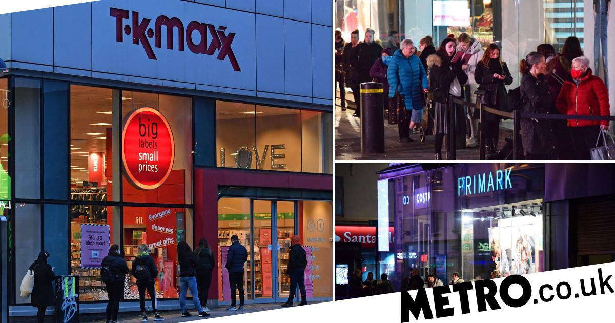 Primark shoppers queue from 5am as non-essential shops reopen across England - metro