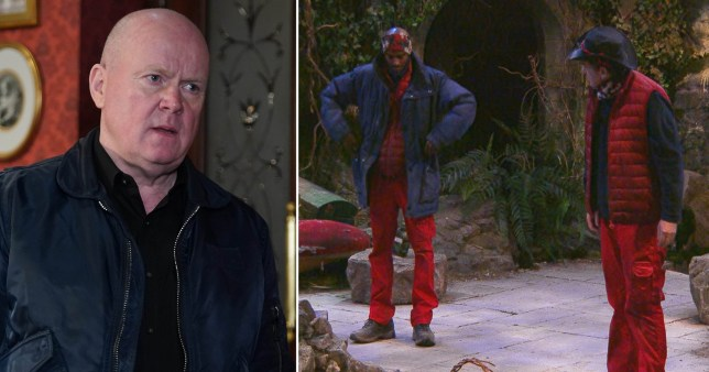 Phil Mitchell with Sir Mo Farah and Shane Richie