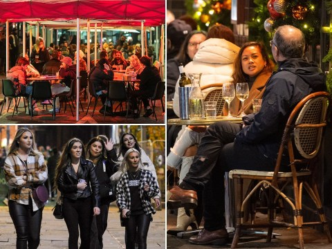 Drinkers brave freezing temperatures to hit pubs for first time in a month