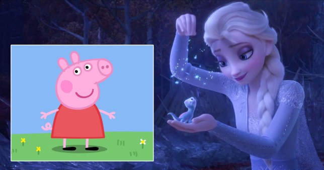 frozen and peppa pig