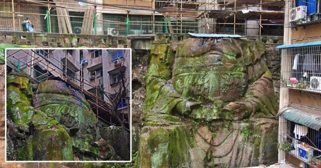 Une statue de Bouddha de neuf mètres de haut a été découverte dans un complexe résidentiel à Chongqing, Chine