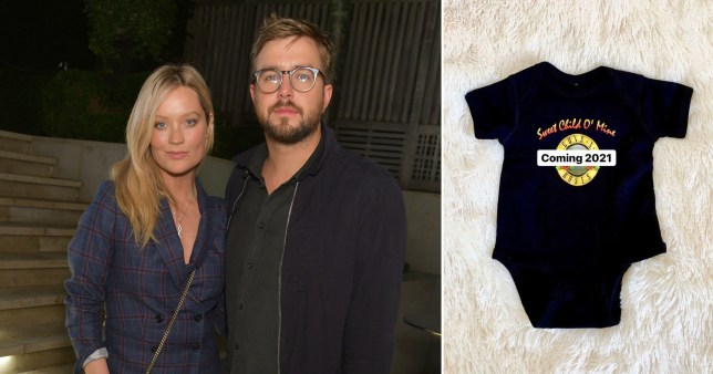 Laura Whitmore and Iain Stirling having baby