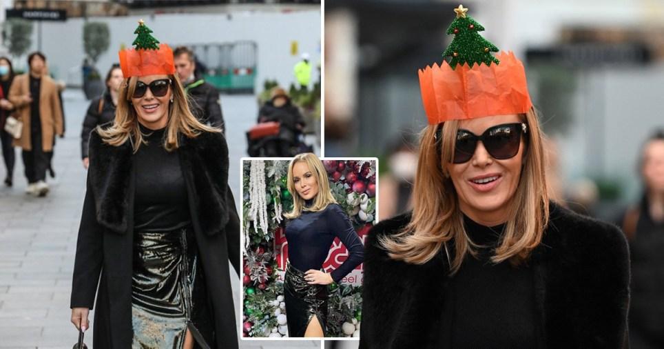 Amanda Holden gets in the Christmas spirit