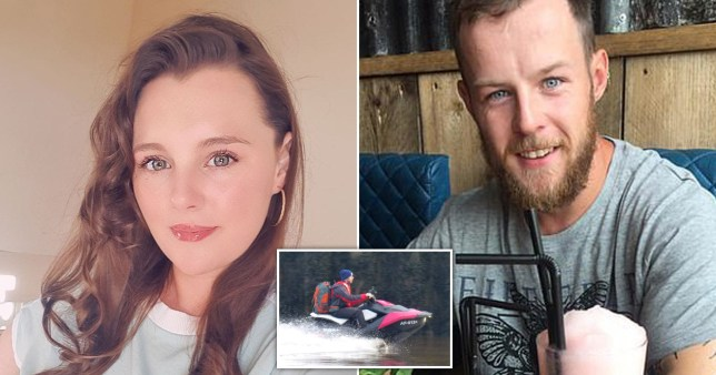 A woman said she would marry her  boyfriend who jet-skied from Isle of Whithorn in Scotland to the Isle of Man to see her.