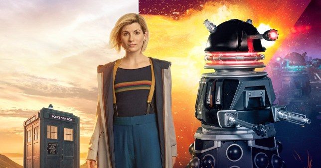 Doctor Who's Jodie Whittaker and a Dalek